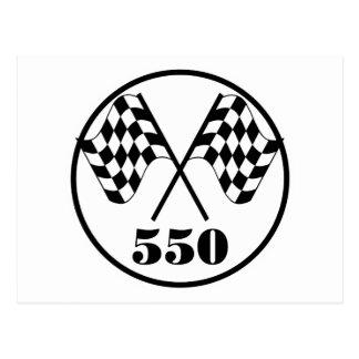 550 banderas a cuadros postal