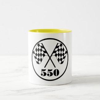 550 Checkered Flags Two-Tone Coffee Mug