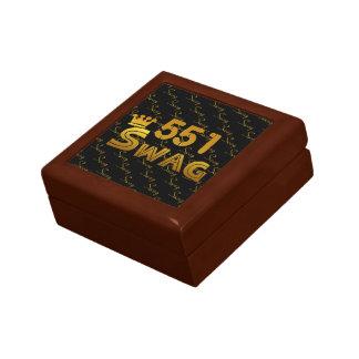 551 Area Code Swag Jewelry Box