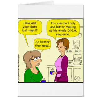 552 one letter DNA sequence cartoon Card