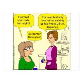 552 one letter DNA sequence cartoon Postcard