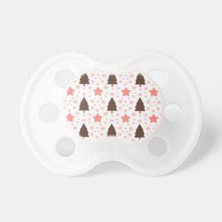 553 árbol de navidad y estrellas lindos chupetes para bebes