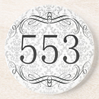 553 Area Code Beverage Coasters
