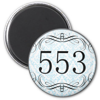553 Area Code Magnets
