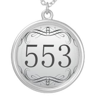 553 Area Code Necklace