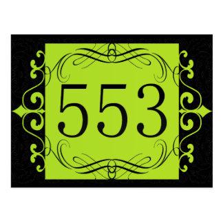 553 Area Code Post Card