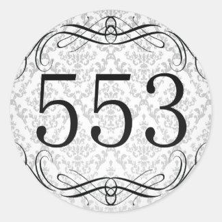 553 Area Code Stickers
