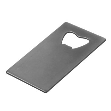 Professional Business #555555 Hex Code Web Color Dark Gray Grey Business Credit Card Bottle Opener