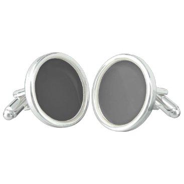 Professional Business #555555 Hex Code Web Color Dark Gray Grey Business Cufflinks