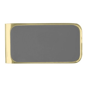 Professional Business #555555 Hex Code Web Color Dark Gray Grey Business Gold Finish Money Clip