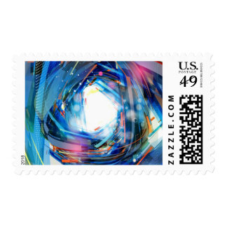 555 Abstract Background Vector Graphic DIGITAL SWI Postage