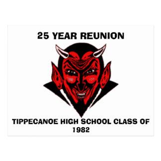 555, TIPPECANOE HIGH SCHOOL CLASS OF 1982, 25 Y... POSTCARD