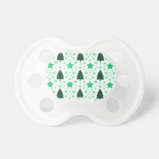 556 árbol de navidad y estrellas lindos chupetes para bebes