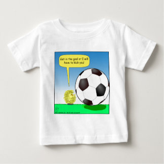 557 chick talking to soccer ball cartoon baby T-Shirt