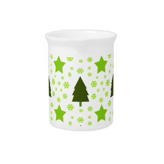 557 Cute Christmas tree and stars pattern.jpg Pitcher