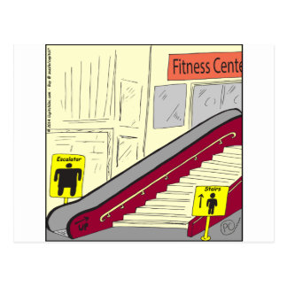 558 escalator or stairs cartoon postcard