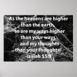 55:9 de Isaías Poster