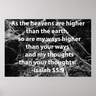 55:9 de Isaías Póster