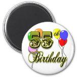 55.a celebración feliz del cumpleaños imanes para frigoríficos