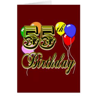 55.a celebración feliz del cumpleaños tarjeta de felicitación