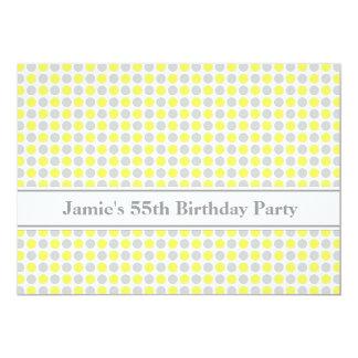 55.a invitación de la fiesta de cumpleaños de los invitación 12,7 x 17,8 cm