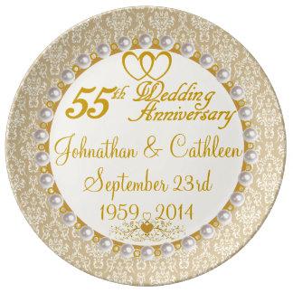 55.a placa personalizada de la porcelana del plato de cerámica