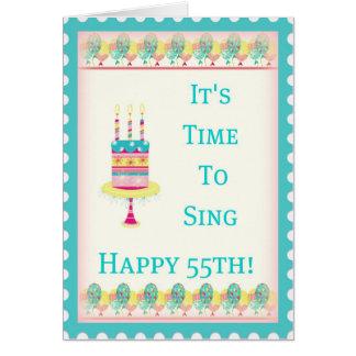 55.a tarjeta de cumpleaños feliz