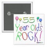 ¡55 años de la roca! pin