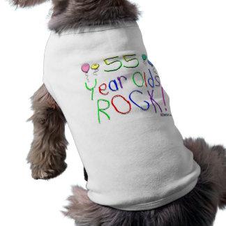 ¡55 años de la roca! camisetas de perrito