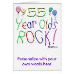 ¡55 años de la roca! tarjetas