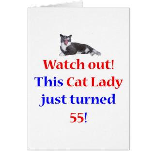 55 Cat Lady Greeting Card
