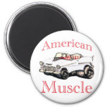 55 chevy American Muscle 2 Inch Round Magnet