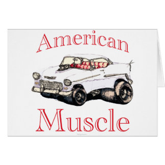 55 chevy American Muscle Greeting Card