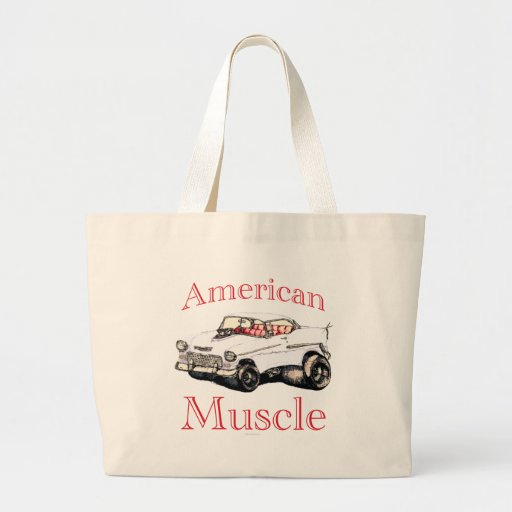 55 chevy American Muscle Large Tote Bag