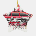 55 chevy car.jpg Double-Sided star ceramic christmas ornament