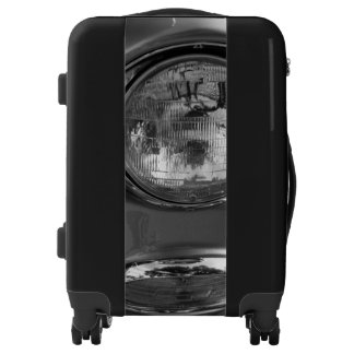 55 Chevy Headlight Grayscale Luggage