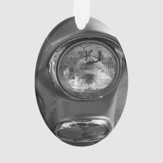 55 Chevy Headlight Grayscale Ornament