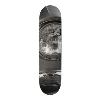 55 Chevy Headlight Grayscale Skateboard Deck