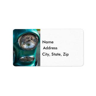 55 Chevy Headlight Label