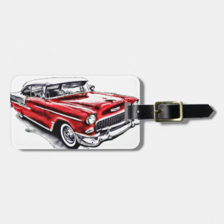 55 Chevy Luggage Tag