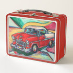"""&#39;55 Chevy Lunchbox<br><div class=""""desc"""">A fun retro lunchbox featuring a classic &#39;55 Chevy from one of my original paintings.</div>"""