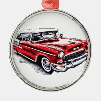 55 Chevy Metal Ornament