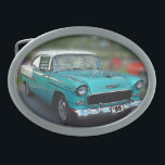 "55 CHEVY OVAL BELT BUCKLE<br><div class=""desc"">Two-tone  55 CHEVY Belt Buckle</div>"