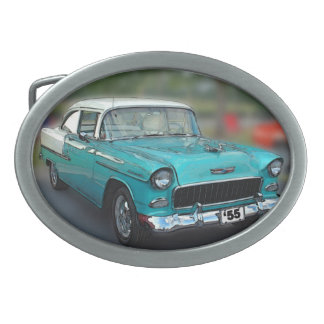 55 CHEVY OVAL BELT BUCKLE