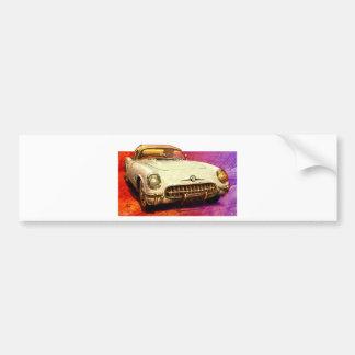 55 Corvette painting Bumper Sticker