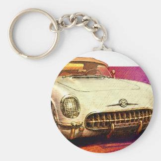 55 Corvette painting Key Chain
