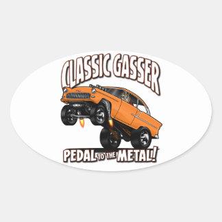 55 GASSER Flair Oval Sticker