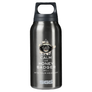[55] Keep Calm or Honey Badger… 10 Oz Insulated SIGG Thermos Water Bottle