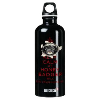 [55] Keep Calm or Honey Badger… SIGG Traveler 0.6L Water Bottle