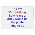 55 me compran una bebida tarjeton